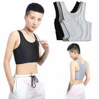 Women's Shapers Casual Breathable Buckle Short Chest Breast Binder Vest Tops Underwear Tank Bandage Side Hook