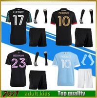 MLS 2021 Los Angeles La Galaxy Inter Miami CF Fussball Jerseys Set 21 22 Higuain Beckham York City Atlanta United Lafc Football Hemden Fans Version Du Joueur Männer Kids Kit
