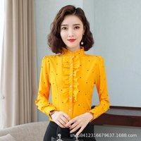 Korean Fashion Chiffon Women Blouses Office Lady Shirt And Blouse Dot Blusas Largas Plus Size XXXL Womens Tops Women's & Shirts