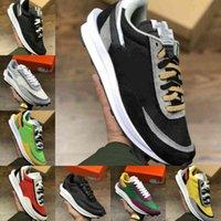 2021 Erkek Koşu Spor Ayakkabı Moda LDV Waffle Kadın Waffle Racer Siyah Beyaz Naylon Zirvesi Çok Çam Yeşil Eğitmenler Varsity Sneakers Y11