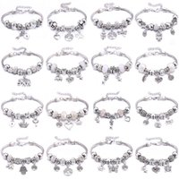 New Jewelry Natural Stone Beaded Bracelet White Crystal Bead Beads Flower&butterfly Pendant Romantic Fashion Women's