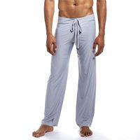 Pantalones para hombre transpirables fondos de sueño suelto seda de hielo ropa de inicio clásico homme pijama deporte casual fitness jogging pantalones de chándal