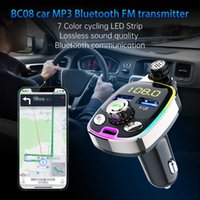 Car Bluetooth FM Transmitter Wireless Bluetooth 5.0 FM Radio Adapter MP3 Player Hands Free Support TF USB Drive USB Fast Charger