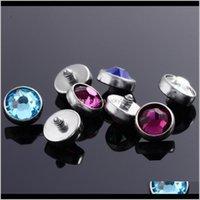 Kaş G23 Titanyum Sier Renk Kristal Taşlar Dermal Çapa Üst Skinner Dalgıç Başkanı İmplantları Vücut Piercing Takı 16G Assuk HMQ7X