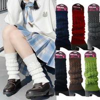 Mulheres de inverno Moda Malha Quente Joelho Sólido Alto Crochet Socks Boot Bake Hosiery
