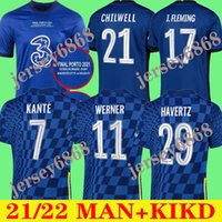 Ziyech CFC Soccer Jersey Pulisic Mount Kante Havertz Werner Abraham Chilwell Giroud Hudson-ODOI 2021 2022 كرة القدم قميص 21 22 رجالية + Kids Kit