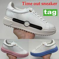 Yeni Time Out Sneaker Rahat Ayakkabılar Üniversitesi Mavi Pembe Beyaz Siyah Baskı Parti Ayakkabı Kadın Platformu Sneakers 35-40