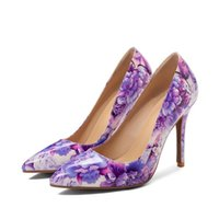 Dress Shoes PXELENA Designer Floral Sexy Thin Super High Heels Ladies Office Party Evening Pumps Slip On Pointed Toe Plus Size