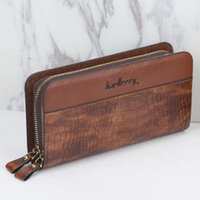 Wallets Men's Purses American And European Multi-function Double-zip Hand Bag Large-capacity Crocodile Retro Handbag