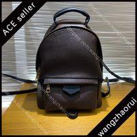 Mini mochila de primera calidad bolsas de la escuela de la mochila moda mujer rucksack mochila cuero genuino bolso de hombro femenino mochila con caja B010