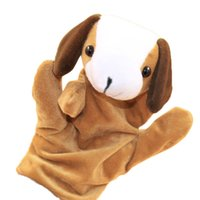 Plush Doll Baby Kid Child Animal Dog Finger Puppet Infant Kid Toy Hand Puppet for Story Telling Prop Gift