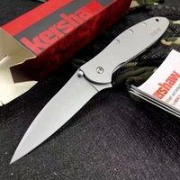 Kershaw Leek 1660 전술 접이식 나이프 Ken 양파 스피드 세이프 티타늄 캠핑 사냥 생존 포켓 유틸리티 EDC 도구 구조 전투 셀프 방어 보조 knifes