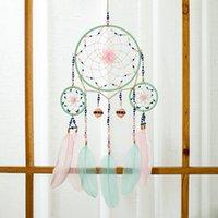 Handmade Dream Catcher Rete con piume parete appeso Dreamcatcher Dreamcatcher regalo decorazioni natalizie per la casa - 60 cm 1349 v2