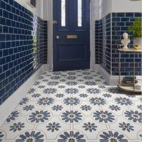 Morocco płytki 300 mm niebieski retro kuchnia balkon płytki ścienne Nordic łazienka WC ozdobna płytka do nawierzchni