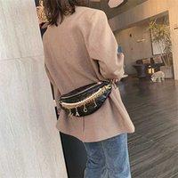 Women's Chain Waist Bag Gold Letters Female Fanny Pack Plaid Luxury Hip Belt High Quality Shoulder Crossbody Chest s 211008