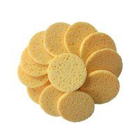 Sponges, Applicators & Cotton 50pcs Natural Wood Pulp Sponge Cellulose Compress Cosmetic Puff Facial Washing Face Care Cleansing Makeup Remo