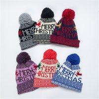 6 Colors Newly Arrival Autumn Knitted Beanie Warm Skull Caps Woolen Hat Christmas Men and Women Jacquard Earmuff Head Hats 9303