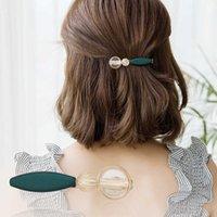 CHIMERA Simple Barrettes for Women Girls Fashion Clips Alloy Metal Pins Korean Headwear Hair Jewelry Accessories