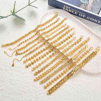 Plated 24k Gold Bracelet Multi Shape Punk Curb Cuban Chain Bracelets Flowers Bangle Fox Fish Wife Fiance Collect