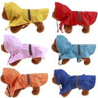 Дождевая куртка для собак одежда для собак камуфляж для собак дождевое пальто с карманным водонепроницаемым щенком Pet Costumes XS-5XL 6 цветов WY1342
