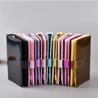 Holographic A5 A6 Pu Leather Notebook Cover Rainbow Ring Binder for Filler Paper Binder Cover with Magnetic Buckle Closure Laser 802 B3
