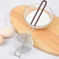 Separatore d'uovo in acciaio inox Yolk divisorio uova bianche Strumento di separazione bianche Utensili da cucina lunghi Gadget e accessorie T2i52017