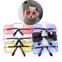 Cat Costumes Square Dog Pet Glasses For Products Eye-wear Sunglasses Pos Props Accessories Supplies Kitty Toy