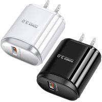 빠른 충전 QC3.0 US EU 패스트 플러그 AC 홈 여행 벽 충전기 iPhone 7 8 X XR Samsung S10 S11 노트 10 HTC 안드로이드 전화