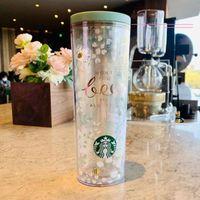 Starbucks Valentine's Day Mug Little Bee 473 ML plastic Tumblers accompanying cute fresh water cup