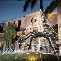 Festivo Partido Suprimentos Halloween Triângulo Web Spider Algodão Screen Silk House Cena Decoração Adereços