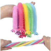 DHL 3-7 Dias Fidget Fidget Brinquedos Sensory Brinquedo Noodle Corda TPR Stress Reliever Unicorn Malala Le Decompression Puxe Ropes