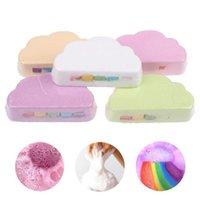 Rainbow Soap Cloud Bath Salt Education Toys Modeling Moisturizing Exfoliating Multicolor for Baby Baths Skin Bombs Body Bubble Cleaning