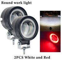 3Inch Arbeitsleiste 12-24V 20W Angel Eyes Licht Wasserdichte Quadratische Runde LED Nachtbar Lichter Tragbare Scheinwerfer Motorrad Ligh