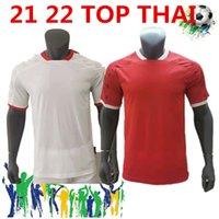 2021 22 아메리카 드 칼리 축구 유니폼 2022 홈 레드 짧은 소매 남자 축구 셔츠 멀리 흰색 마이 롯 발