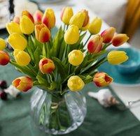 PU Künstliche Blume Seide Tulpen Echtuch Blumen Mini Tulpe Hochzeit Dekorative Blumenstrauß Hochzeiten Dekorationen Wohnkultur FWD6331