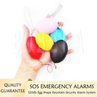 Alarmes d'autodéfense 120DB Système d'alarme de porte-clés bruyant Fille Femmes Protect Alert Sécurité personnelle Sécurité des urgences Systèmes de sécurité d'urgence