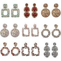 Geometric Earring Best lady Fashion ZA Resin Drop Earring For Women Wedding Luxury Jewelry Boho Elegant Shiny Dangle Statement Earrings