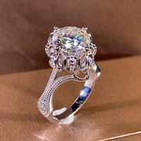 Huitan Gorgeous women squilli nuziali brillante zircone cubico elegante elegante femmina anello del partito delicato anniversario regalo gioielli