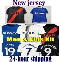 21 22 Calvert-Lewin Soccer Jerseys Everton James Sigurdsson Allan Doucoure Keane Camisa de Fútbol Portero 2021 2022 André Gomes Richarlison Men Kit Kit Uniforme
