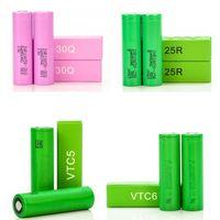HG2 18650 Battery Brown Pack 3000mAH 25R 30Q VTC5 VTC6 3.7V Max 2500mAh 2600mAh Lithium Recarregável Imr para LG Samsung Mods