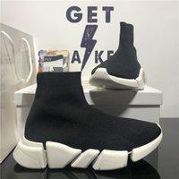 고품질 패션 쌍 디자이너 신발 여성 양말 스니커즈 남자 여자 트리플 s 블랙 야외 플랫폼 양말 캐주얼 트레이너 운동화