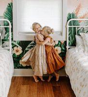 Girls Dresses Casual Baby Princess Dress Kids Clothes Children Clothing Wear Summer Cotton Short Sleeve Long Beach B6148