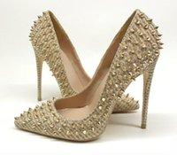 Design de marca de luxo sapatos femininos fundo vermelho salto alto 8cm 10cm 12cm mais tamanho Euro34 a 45 dedos pontiagudos bombas serpentina festa verde casamento sapato