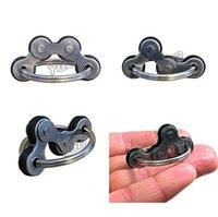 2,5 cm flip fidget brinquedos cadeia de bicicleta spinner chaveiro poo-seu dedo spinners dedo autismo stress decompressão metal keychain keychain samll toy h41uusd