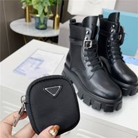 Дизайнерские мужчины женские дизайнеры Rois Boots Boots Martin Boot Pocket Pocket черные ботинки нейлоновые военные ботинки вдохновил бой с коробкой размером 35-45