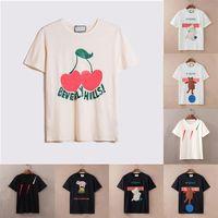 2021 Bayan Erkek Tasarımcı T Shirt Yaz Gevşek Tees Moda Adam S Casual Gömlek Lüks Giyim Sokak Şort Kol Giysileri Çiftler Tişörtleri 21ss