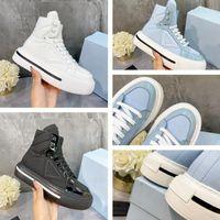 2021 Designer di lusso A2 Donna Casual Scarpe Casual Sneakers High-Top in pelle lucida e re-in nylon rivestimento in nylon riciclato fodera rimovibile sottopiede moda Trendy Top Quality Dimensioni 35-40