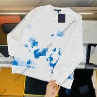 21 ss Paris Designer Sweatershirt Luxus Herren Damen Blauer Brief Drucken Hoodies Man Mode Top Qualität T Shirts Street Langarm Luxurys Sweathirts