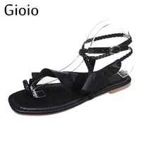 Sandali Gioiio Donne Roma Stile Viola Viola Flat Keel Scarpe da donna Moda Plus Size Shoe Summer Beach Sandalo femminile