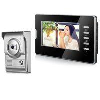 Téléphone Vidéo Porte Visual Interphone Soignée 7 '' TFT Couleur Color Système de téléphonie à écran LCD Moniteur intérieur 700TVL Ensemble de support de caméra IR Outdoor Outdoor